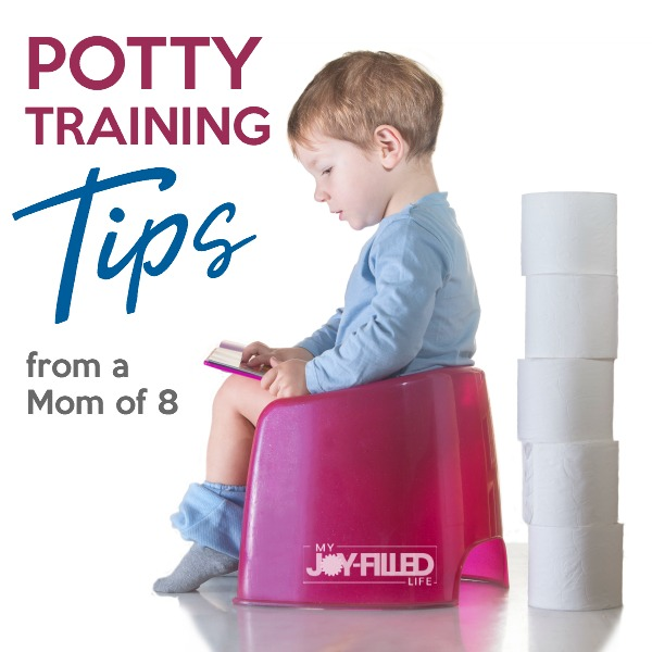 Potty Training Tips from a Mom of 8